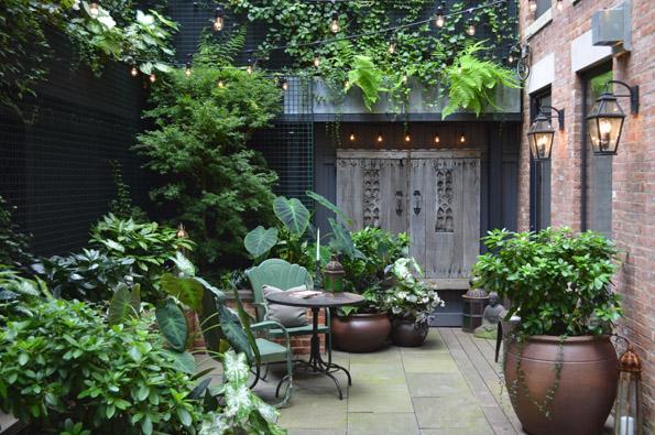 greenwich village backyard garden NYC jeffrey erb
